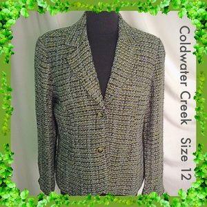 Coldwater Creek / Size 12 Tweed Jacket / Blazer